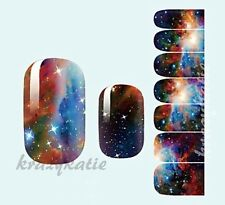 Galaxy Nebula Nail Wrap Patch Foil Adhesive Stickers 14pcs Ultra-thin