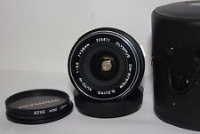 Olympus OM 28mm f3.5 Auto-W Wide Angle  Prime Silver Nose Lens OM1 OM2 OM4 OM10