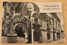 Cartolina Pescara - Casa natale di Gabriele D'Annunzio - viaggiata