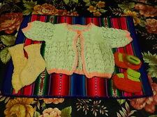 pour bella,petit collin ,raynal de 30-35cm du tricoté main vintage 3piéces