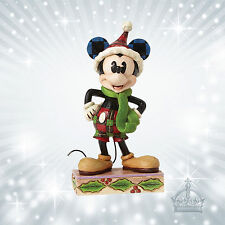 Merry Mickey Mouse Maus  Jim Shore Disney Traditions Dekofigur Weihnacht 4051966