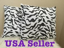 2x Home Decorative Zebra Leopard Print Cushion Cover Sofa Pillow
