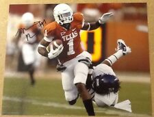 Mike Davis Signed 8x10 Football Photo W / COA Texas