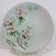 "Vintage Jean Pouyat Limoges France 9"" Plate Hand Painted, Signed by Artist M.R."