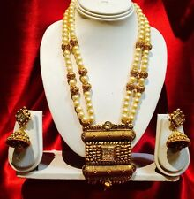 Bollywood Indian Bridal Necklace Earrings Jewellery Party Antique Gold Tone #R67