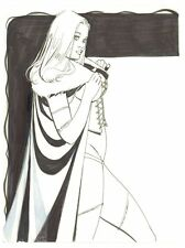 Emma Frost White Queen Commission art by Steve Rude