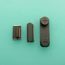 Side Key Button Volume Mute Power Switch 3PCS Set For iPhone 5 5G 5S 5Gs Black