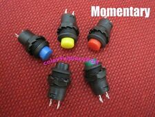 5pcs Momentary OFF-(ON) Push Button Switch 12mm Red Yellow Blue Green Black 12V