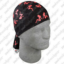 Red Black Mud Flap Girls Doo Rag Headwrap Skull Cap Biker Trucker Durag ATV