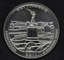 2011 America the Beautiful 5 oz .999 Fine Silver Coin, Gettysburg National Park