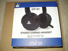 4Gamers PS3 Officially Licensed CP-01 Stereo Gaming Headset Black NEW