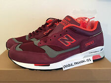 NEW BALANCE 1500 BRG US 9 UK 8.5 42.5 MADE IN ENGLAND MAROON NEON RED BURGUNDY