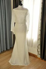 Designer Wedding dress in Satin/Lace overlay. Size 14/16.