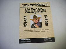 BETSON MAD DOG McCREE    ARCADE GAME  FLYER