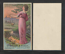 1880s ODENBACH & SHALE FURRIERS ROCHESTER NY SIGN OF DEER VICTORIAN TRADE CARD