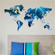 Removable Mural World Global Map Blue Wall Stickers Art Vinyl Decal Home Decor