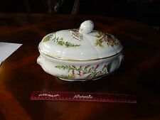 Spode ENGLAND Stafford Flowers Oval Covered Casserole Genista & Digitalis Bowl