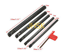 5pcs Of SCLCR 6 7 8 10 12mm Boring Bar Tunring Tool + CCMT0602 5 Insert & Wrench