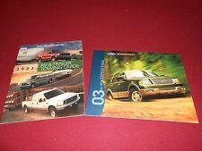 2003 FORD EXPEDITION 40 p. SALES CATALOG + RV & TRAILER TOWING GUIDE, BROCHURE