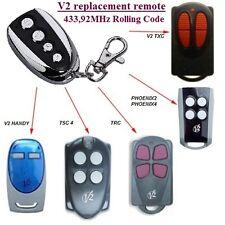 V2 Phoenix, V2 Handy, V2 TSC, V2 TRC 433.92MHz Compatibile Telecomando, Clone