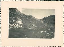 France, Haut-Queyras, au fond le Col Vieux Vintage silver print Tirage argen