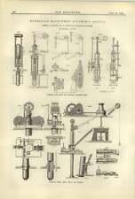 1884 LE MACCHINE IDRAULICHE PER LA NAVE A VAPORE quetta verricello idraulico