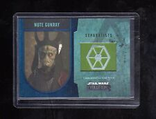 Star Wars Evolution  Nute Gunray Flag Patch card 06/50