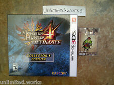 Monster Hunter 4 Ultimate Collector's Edition with Pre-Order Felyne Pin 3DS New