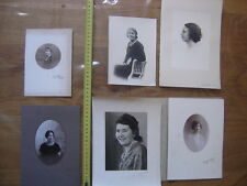 Lot PHOTO portraits de dames femmes woman lady VINTAGE