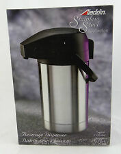 THE ALADDIN STAINLESS STEEL COLLECTION ~ BEVERAGE DISPENSER 2.5 LITER ~ NEW