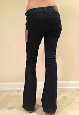 TRUE RELIGION  Jeans Mid Rise Flare Leg EMI LUXE Midnight Size 28 NEW