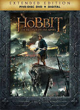 The Hobbit: The Battle of the Five Armies (DVD, + Digital 2015, 5-Disc Set) NEW