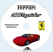 Workshop Manual Ferrari 360 Spider,Istruzioni Riparazioni + Wiring Diagram