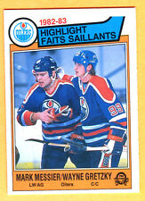NICE CORNERS! 1983 OPC HOCKEY WAYNE GRETZKY/MARK MESSIER #23 EXMT+