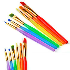 6 Pcs/Set Colorful Child Paint Brushes Nail Brush For Art Artist Supplies Hot