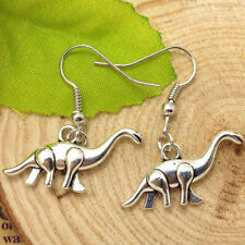 Antique silver lovely Dinosaur Earrings Handmade Jewelry  fashio@2