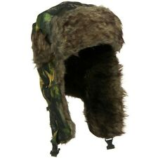 Faux Fur Lining Aviator Bomber Trooper Trapper Winter With Ear Flaps Hat CAMO
