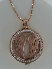 GENUINE MI MILANO NECKLACE/PENDANT AND HOLDER /TREE OF LIFE/ANGEL WINGS/MONEDA