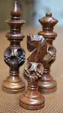 "Wooden Chess Set Magic Ball Design King 3"" 32 Chess Pieces"