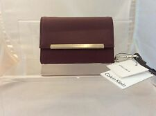 CALVIN KLEIN Black Leather wallet purse with gold Calvin Klein logo - brand new