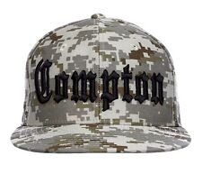 Desert Camo Compton Embroidered Hip Hop Flat Bill Snapback Snap Back Cap Hat