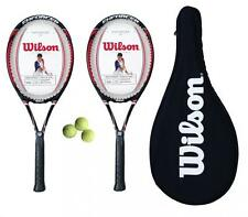 2 x Wilson Enforcer 100 Tennis Rackets L3 + Carry Case + 3 Tennis Balls RRP £150