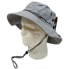 WIDE BRIM FISHING BUCKET BOONIE SAFARI  HAT CAP (100% COTTON)