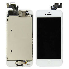 Glass Screen LCD For iphone 5 WHITE Plate home button camera Speaker Full