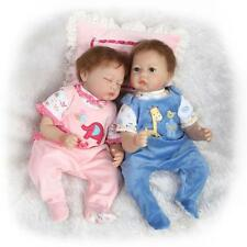 "22"" A Pair of Reborn Babies silicone Vinyl Handmade Realistic  Boy AND Girl Doll"