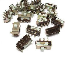 20x Schiebe-Schalter 2-polig UM / Sliding Switch, NOS