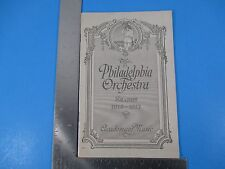 1916-1917 Philadelphia Orchestra Season Academy of Music Van Rensselaer S3370