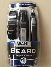 Wahl Cordless Battery Operated Beard Trimmer / Bonus Ear, Nose and Brow Timmer