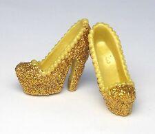 Barbie Accessories handmade new high heels golden glitter shoes HS100005
