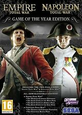 NAPOLEON TOTAL WAR + EMPIRE TOTAL WAR PC NEUF EN FRANCAIS - ENVOI EXPRESS FRANCE
